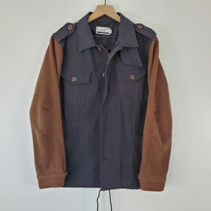 Publish field jacket with contrast sleeves lastair
